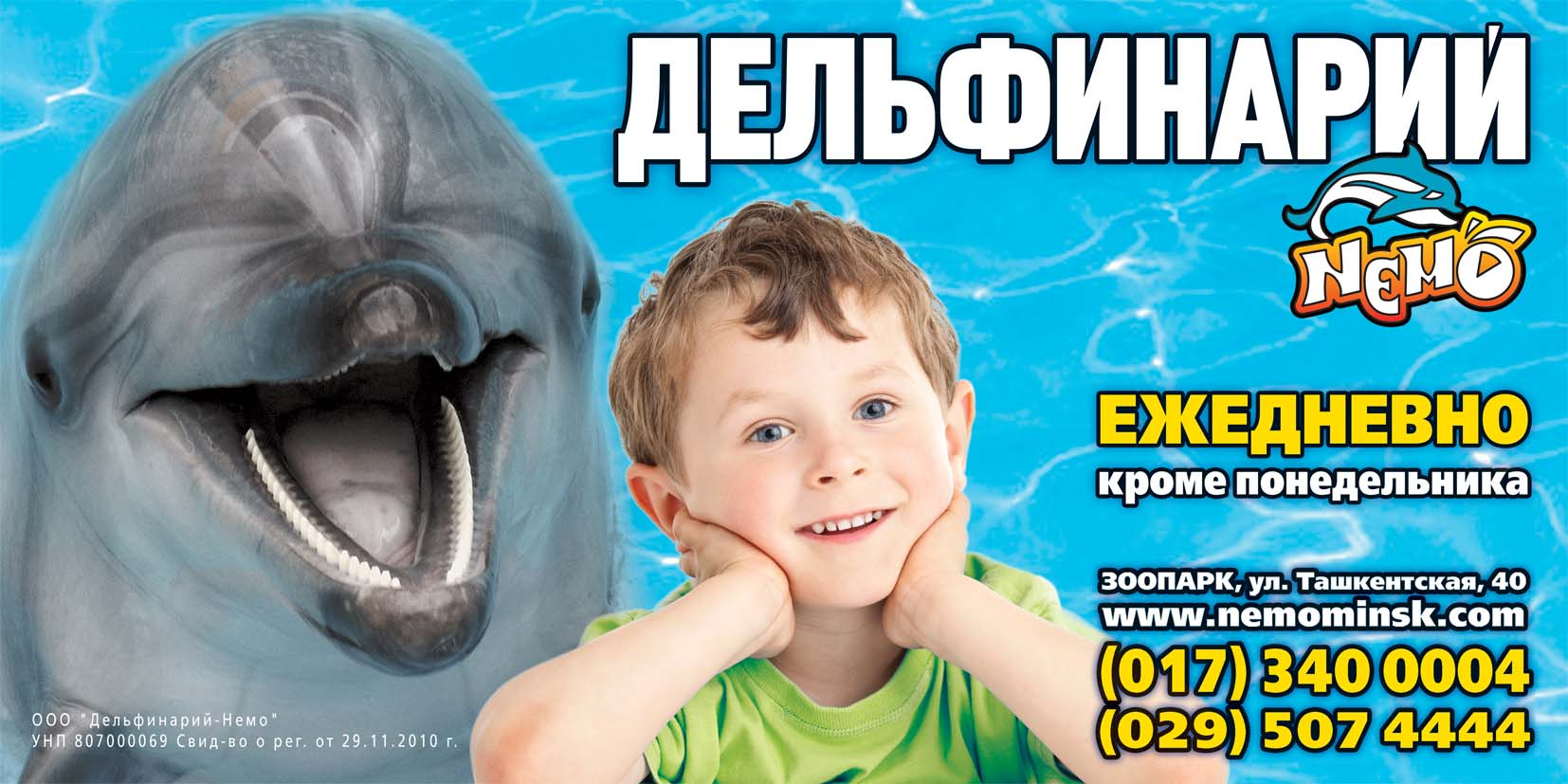Nemo, the Dolphinarium in Golubitskaya, invites to visit